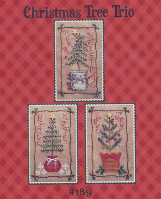 Christmas Tree Trio: Christmas Tree Trio By Waxing Moon Designs Counted Cross