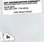 Little Sheep Virtues Friendship button pack