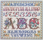 Floral Alphabets - (Cross Stitch)