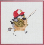 Fisherman Chick - (Cross Stitch)