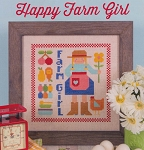 Happy Farm Girl - (Cross Stitch)