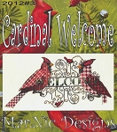 Cardinal Welcome - (Cross Stitch)