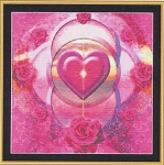 Pink Rings of Love - (Cross Stitch)