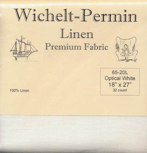 "32 count Optical White Linen 18"" x 27"" Wichelt 65-20L"