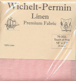"28ct Touch of Pink Linen 18"" x 27"" Wichelt 76-302L"
