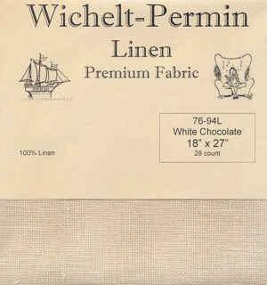 "28 count White Chocolate Linen 18""x27"" Wichelt 76-94L"