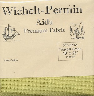 "14 count Tropical Green Aida 18""x25"" #357-271A"