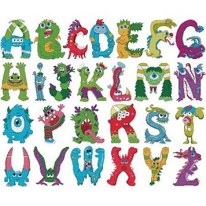 Monster Alphabet - (Cross Stitch)