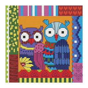 Crazy Patch Owl 08 - (Cross Stitch)