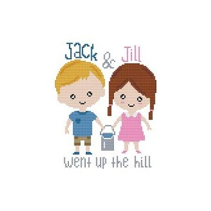 Jack and Jill Went Up the Hill - (Cross Stitch)