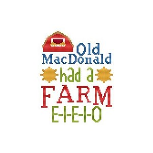 Old MacDonald Had a Farm - (Cross Stitch)