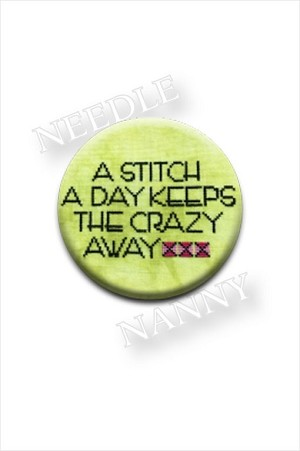 A Stitch A Day Keeps the Crazy Away Needle Nanny by Amy Bruecken Designs Needle Minder