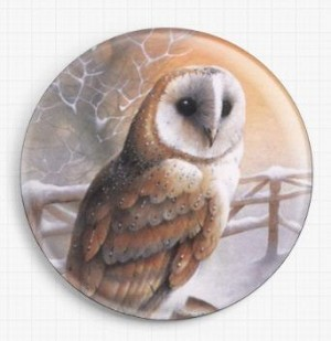 Barn Owl Needle Nanny By David Finney Licensed Art Gecko Rouge Needle Minder