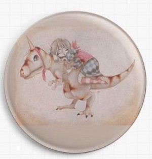 All I want To Be Is A Unicorn Needle Nanny  By Terra Bidlespacher Licensed Art Gecko Rouge Needle Minder