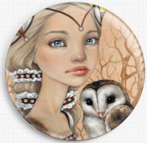 Owl Maiden Needle Nanny By Tanya Bond Licensed Art Gecko Rouge Needle Minder