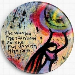 She Wanted The Rainbow So She Put Up With The Rain Needle Nanny By Lindy Gaskill Licensed Art Gecko Rouge Needle Minder