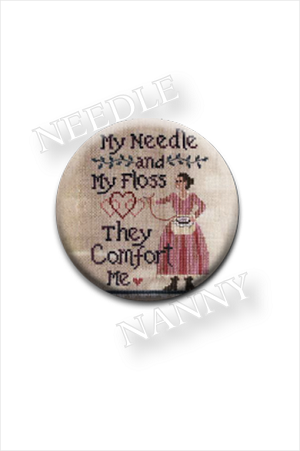 My Needle and My Floss They Comfort Me Needle Nanny by Waxing Moon Designs Needle Minder