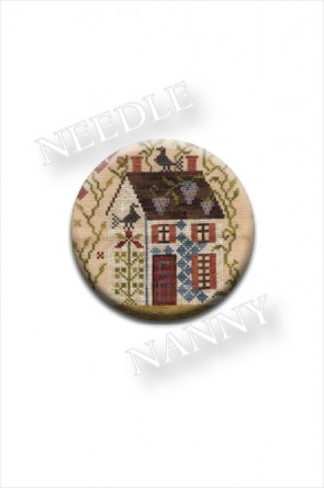 Summer Needle Nanny by Blackbird Designs Sampler House Needle Minder