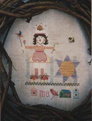 Scarecrow-of-the-Month -  May - (Cross Stitch)