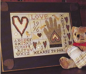 Hands to Work - Hearts to God - (Cross Stitch)