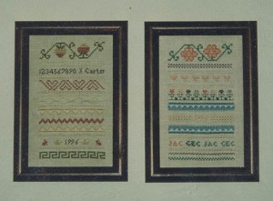 Mini Spring and Summer Samplers - (Cross Stitch)