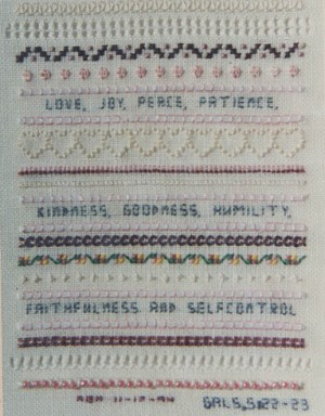 Fruits of the Spirit - (Cross Stitch)
