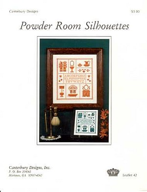 Powder Room Silhouettes - (Cross Stitch)