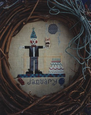 Scarecrow-of-the-Month - January - (Cross Stitch)