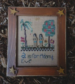 A is for Adam & Eve - (Cross Stitch)