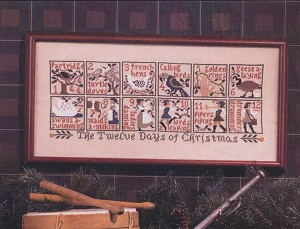 The 12 Days of Christmas - (Cross Stitch)