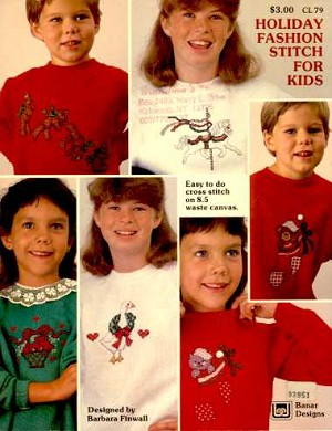 Holiday Fashion Stitch for Kids - (Cross Stitch)