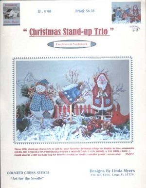 Christmas Stand-up Trio - (Cross Stitch)