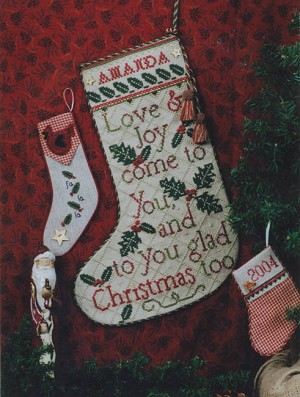 Glad Tidings Stocking - (Cross Stitch)