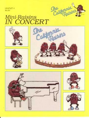 Mini-Raisins in Concert - (Cross Stitch)