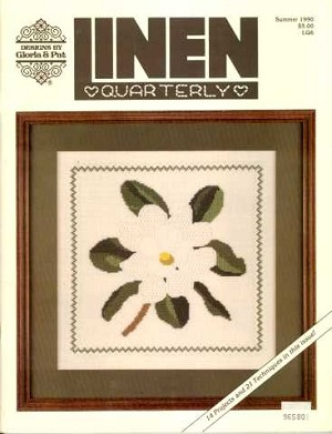 Summer 1990 Linen Quarterly Magazine - (Cross Stitch)