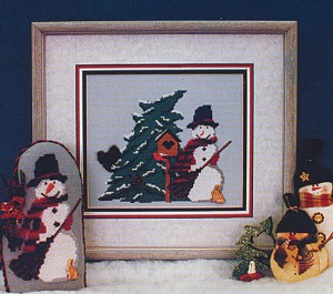 Woodland Snowman - (Cross Stitch)