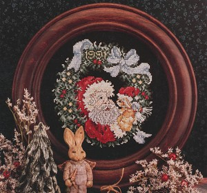 Santa Christmas Plate 1991 - (Cross Stitch)