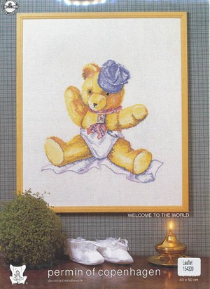 Teddybear With Hat - (Cross Stitch)