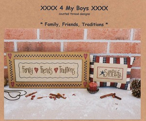 Family, Friends, Traditions - (Cross Stitch)