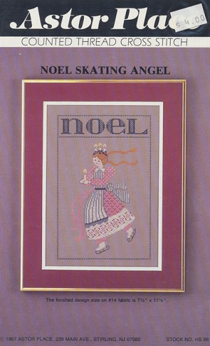 Noel Skating Angel - (Cross Stitch)