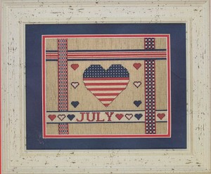 July Ribbons - (Cross Stitch)