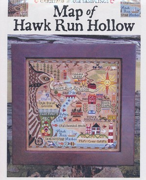 Map of Hawk Run Hollow - (Cross Stitch)