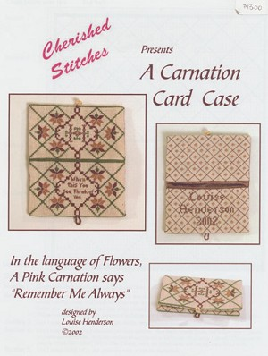A Carnation Card Case - (Cross Stitch)