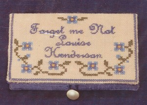 Forget-Me-Not Card Case - (Cross Stitch)