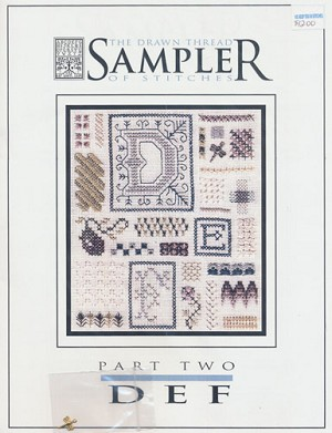 Sampler of Stitches- Part 2: DEF - (Cross Stitch)