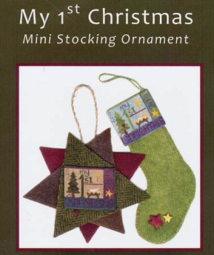 My 1st Christmas Mini Stocking Ornament - (Cross Stitch)
