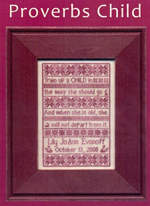 Proverbs Child - (Cross Stitch)