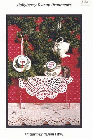 Hollyberry Teacup Ornaments