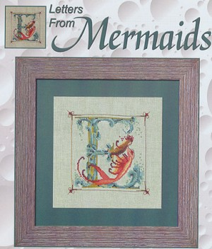 Letters From Mermaids - E - (Cross Stitch)