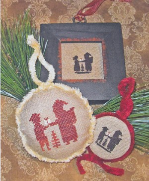 Santa & The Children Silhouettes - (Cross Stitch)
